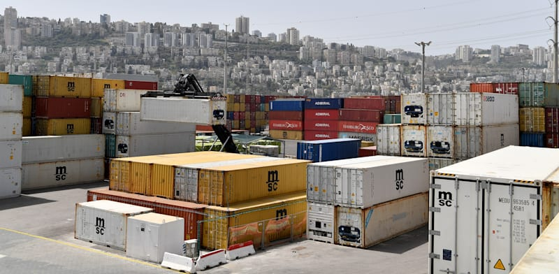 Containers at Haifa Port  credit: Paul Orliev
