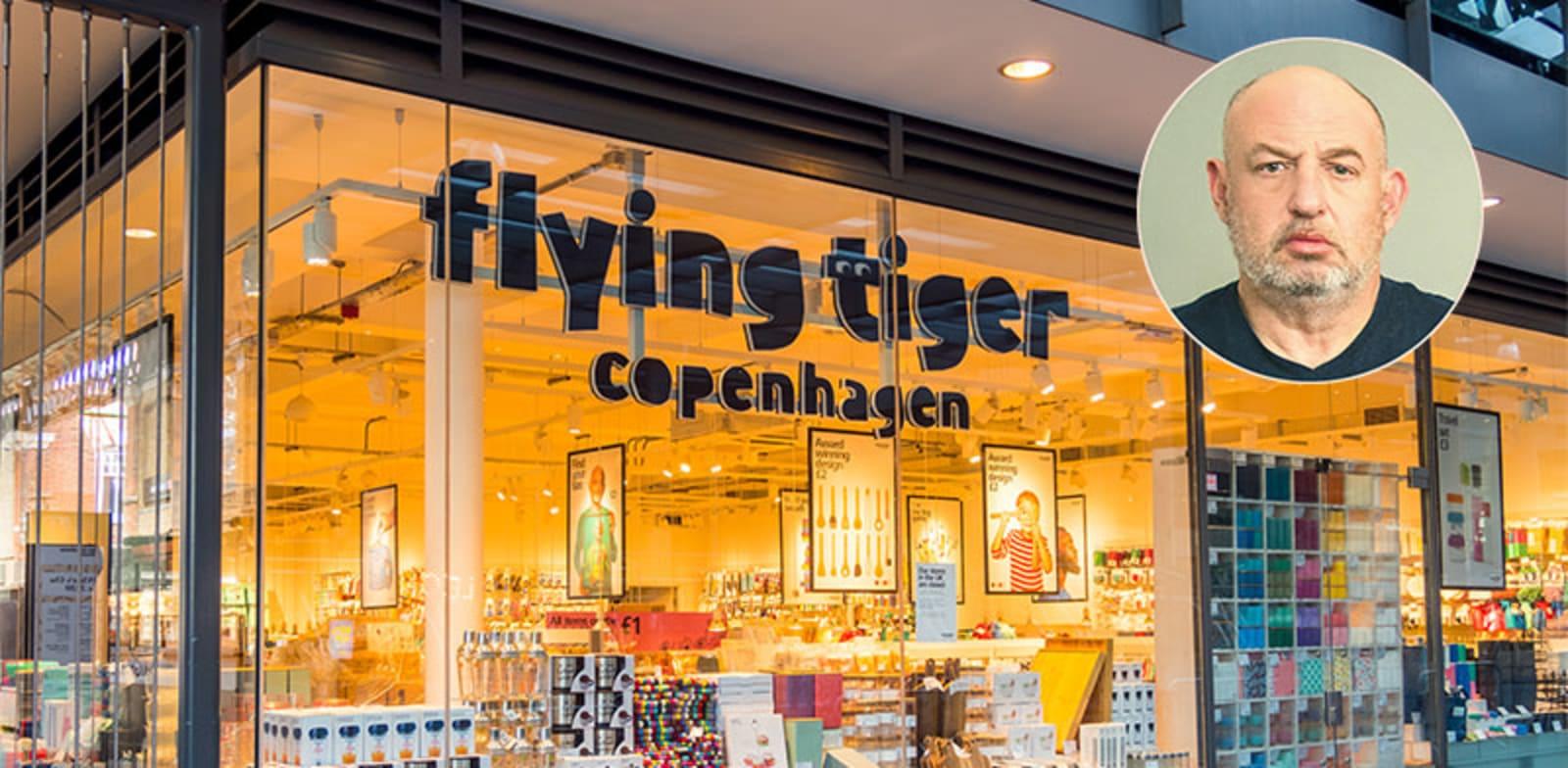 """חנות של רשת פליינג טייגר בקופנהגן. בעיגול: הראל ויזל, מנכ""""ל ובעלי פוקס / צילום: דימה טליאנסקי, shutterstock"""