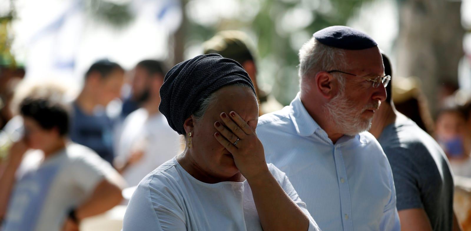 יום הזיכרון בבית העלמין הצבאי בהר הרצל בירושלים / צילום: Reuters, Ronen Zvulun