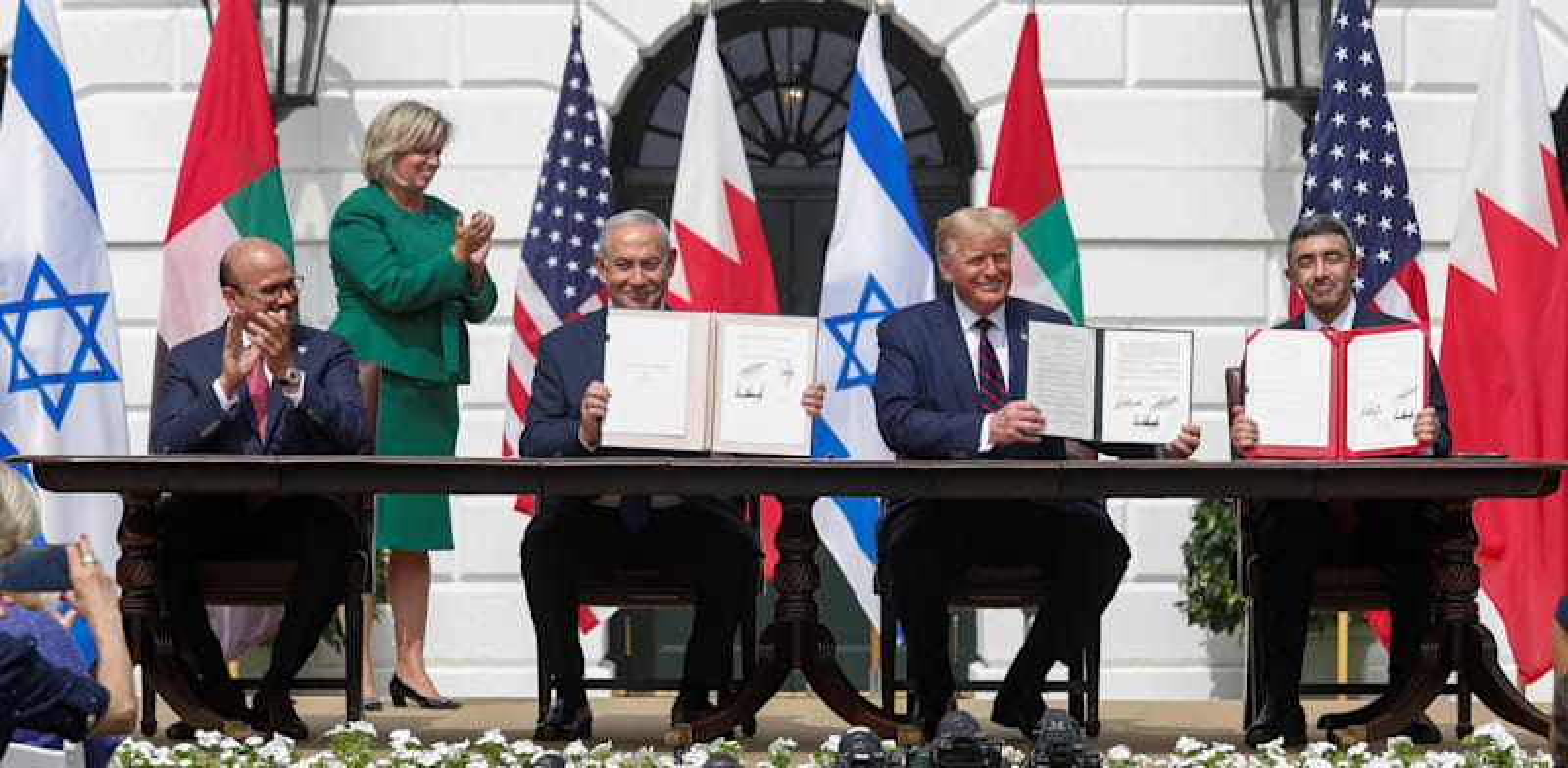 חתימת הסכמי אברהם עם איחוד האמירויות / צילום: Reuters, תום ברנר
