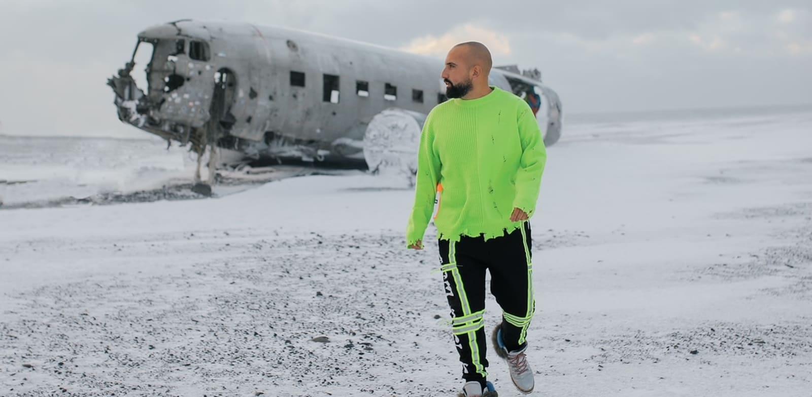 אתר התרסקות המטוס האמריקאי באיסלנד / צילום: אדיר אסארף, באדיבות חן עמר
