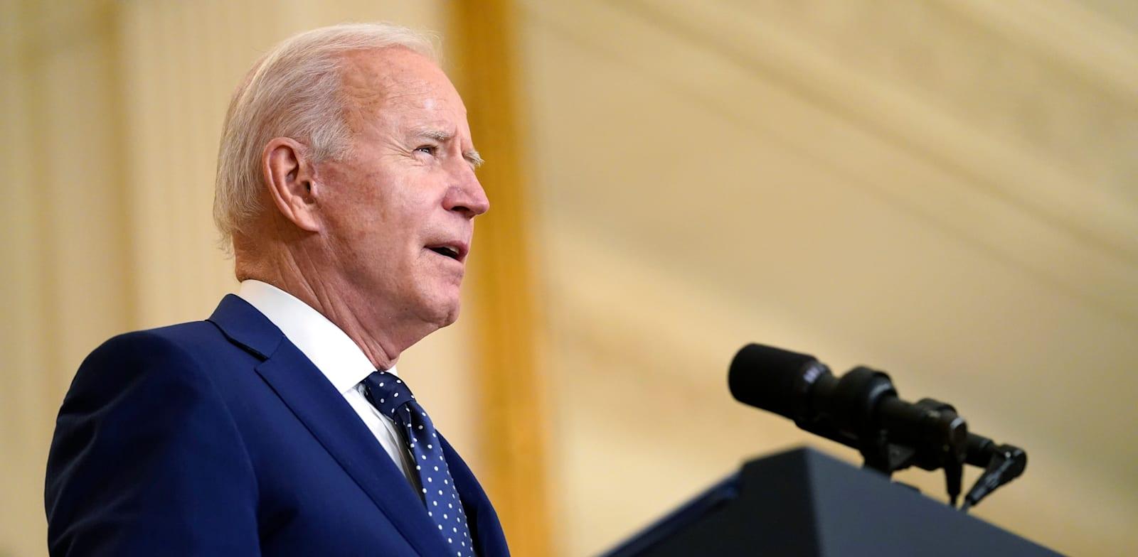 """נשיא ארה""""ב, ג'ו ביידן. מכין את יריית הפתיחה בדיפלומטיית האקלים שלו / צילום: Associated Press, Andrew Harnik"""