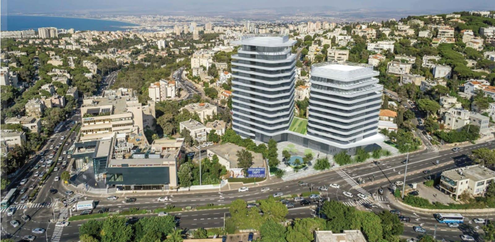 מרכז שכונת אחוזה בחיפה / הדמיה: משרד גורדון אדריכלים ומתכנני ערים