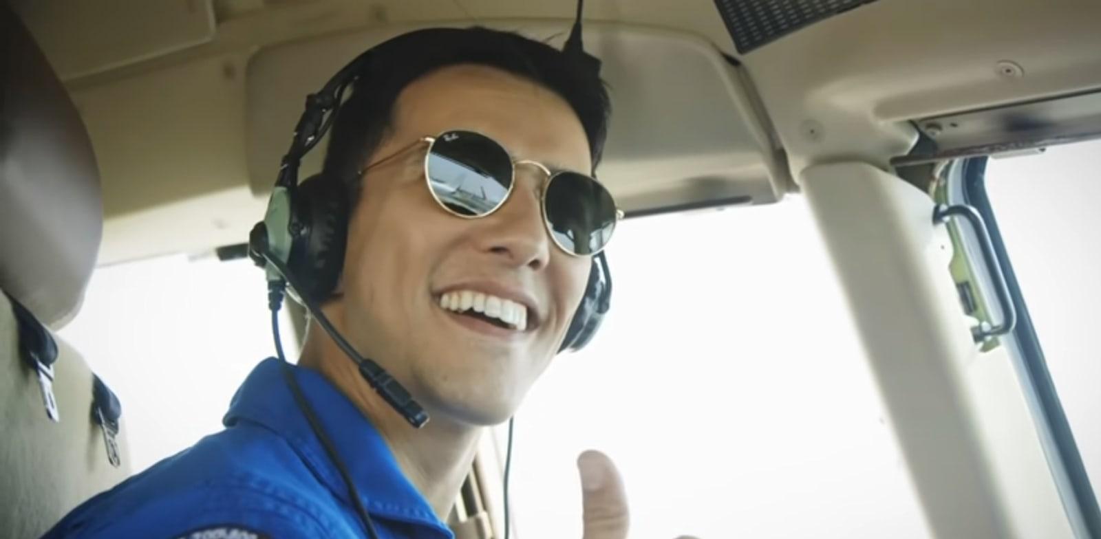 הראל סקעת בקמפיין התעשייה האווירית / צילום: יוטיוב