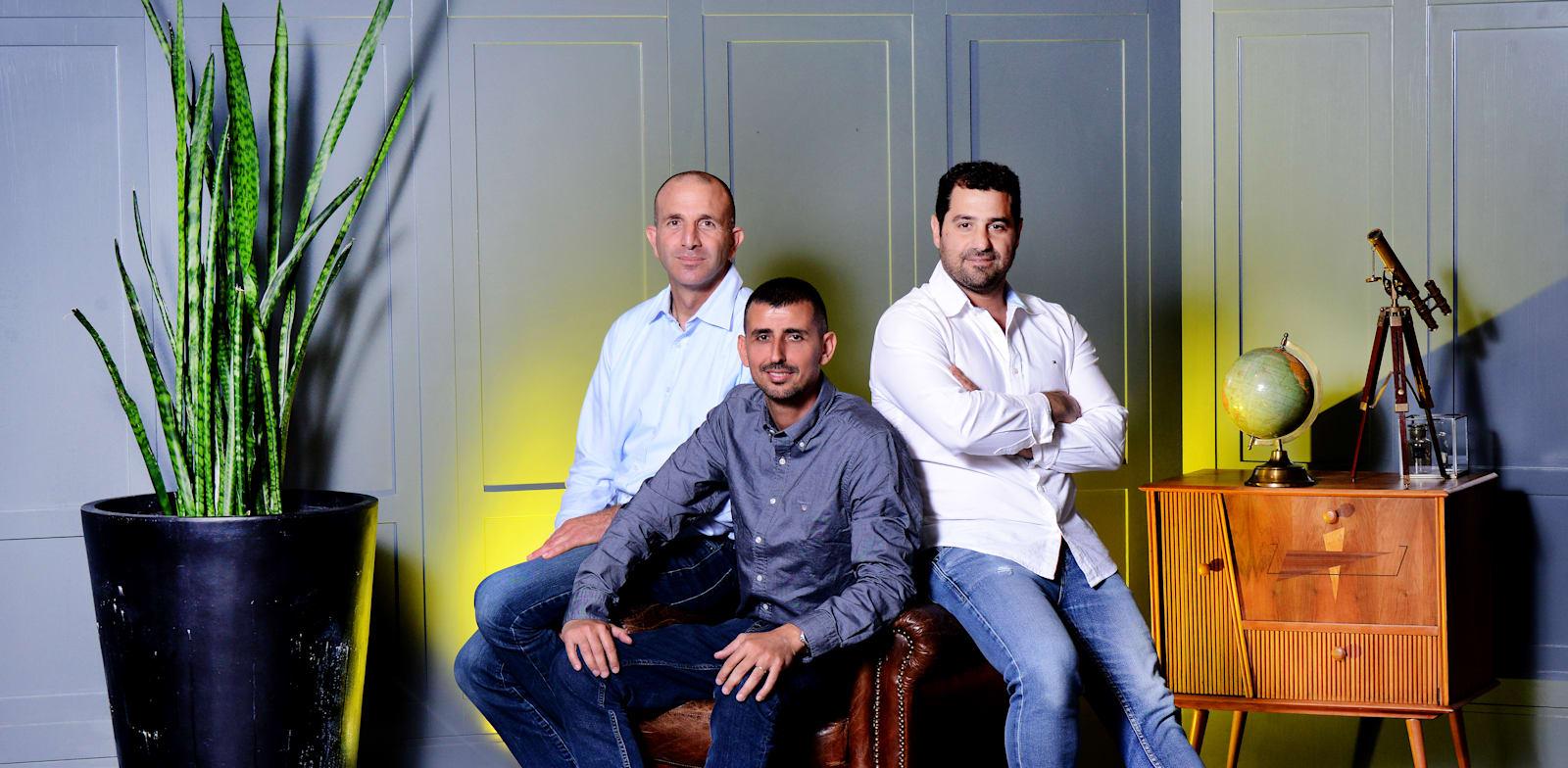 4M Analytics founders Yoav Cohen, Itzik Malka, Nir Cohen  credit: Eyal Izhar