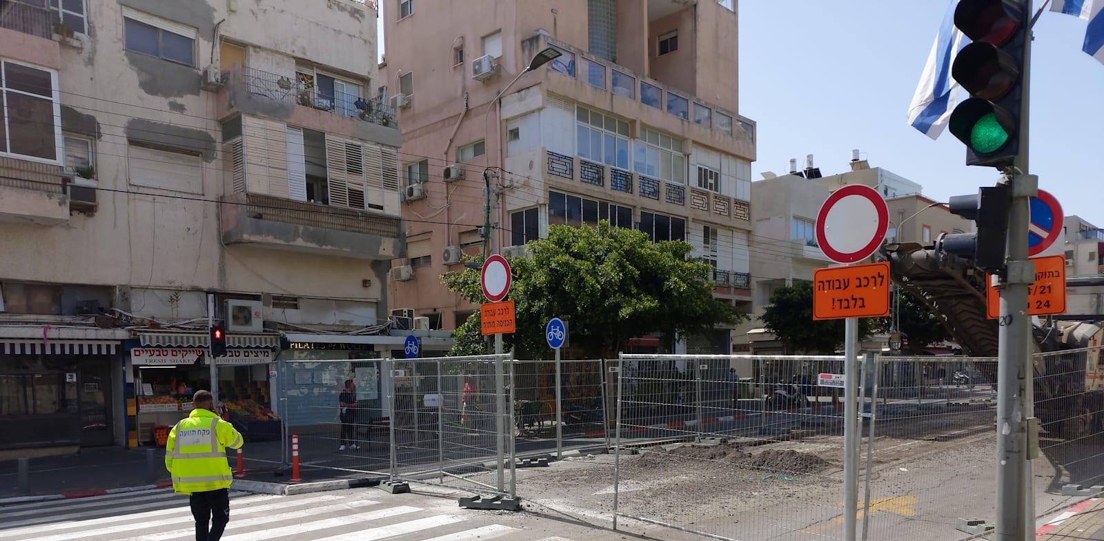 עבודות הרכבת הקלה ברחוב בן יהודה בתל אביב / צילום: איל יצהר