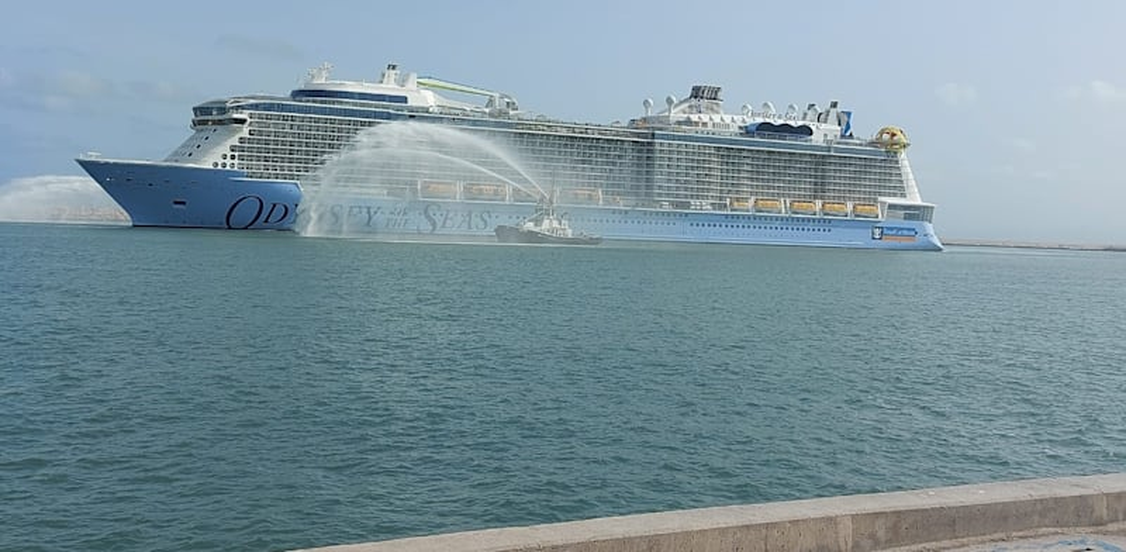 Odyssey of the Seas enters Haifa Photo: Haifa Port