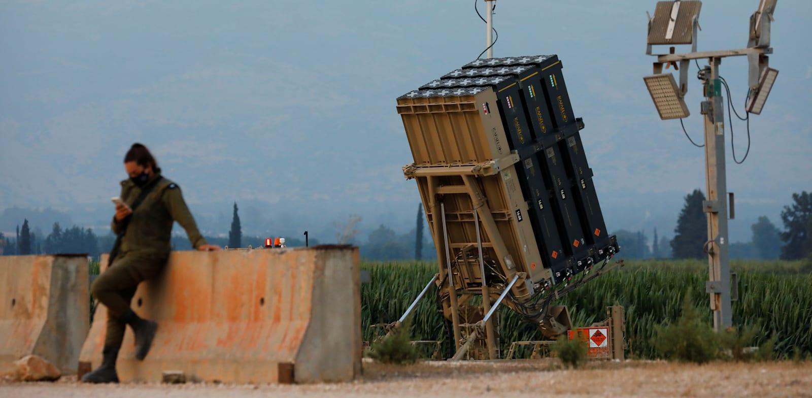 Iron Dome battery  credit: Amir Cohen, Reuters