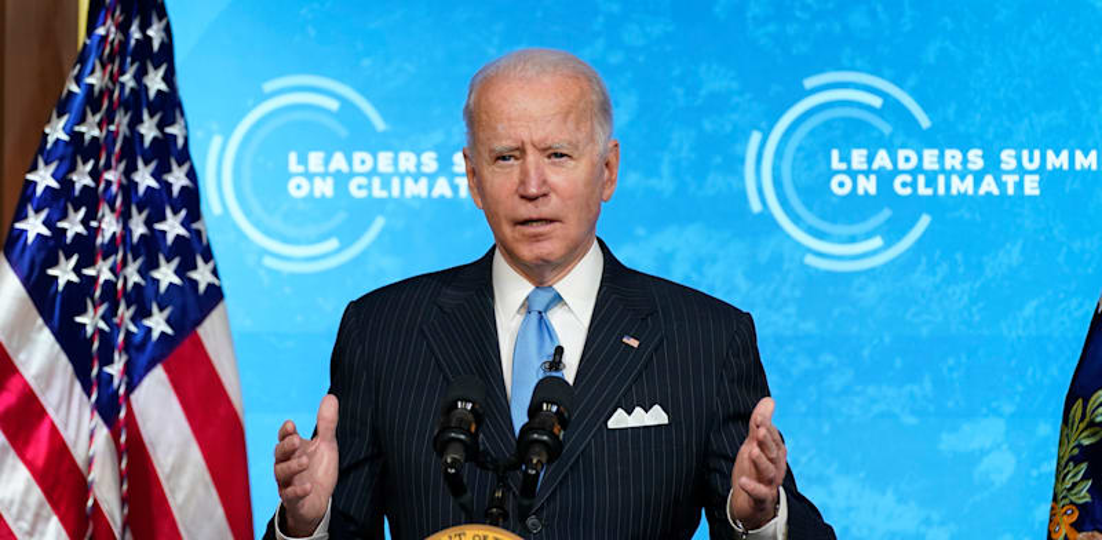ג'ו ביידן בפסגת האקלים. המדיניות החדשה תהווה מנוע ליצירת מקומות עבודה / צילום: Associated Press, Evan Vucci