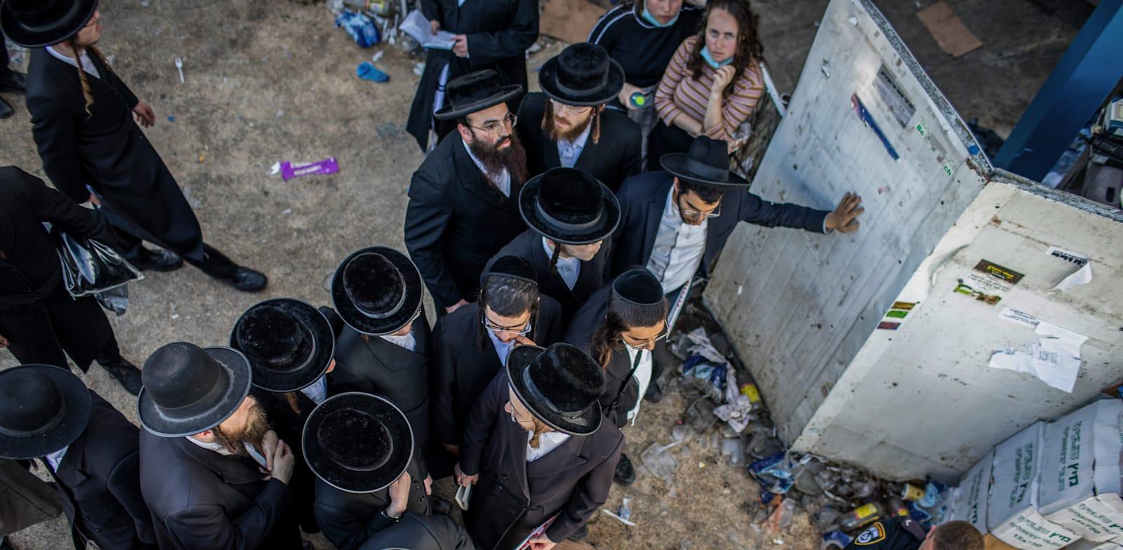 אזור האסון בהר מירון / צילום: Reuters, Ilia Yefimovich