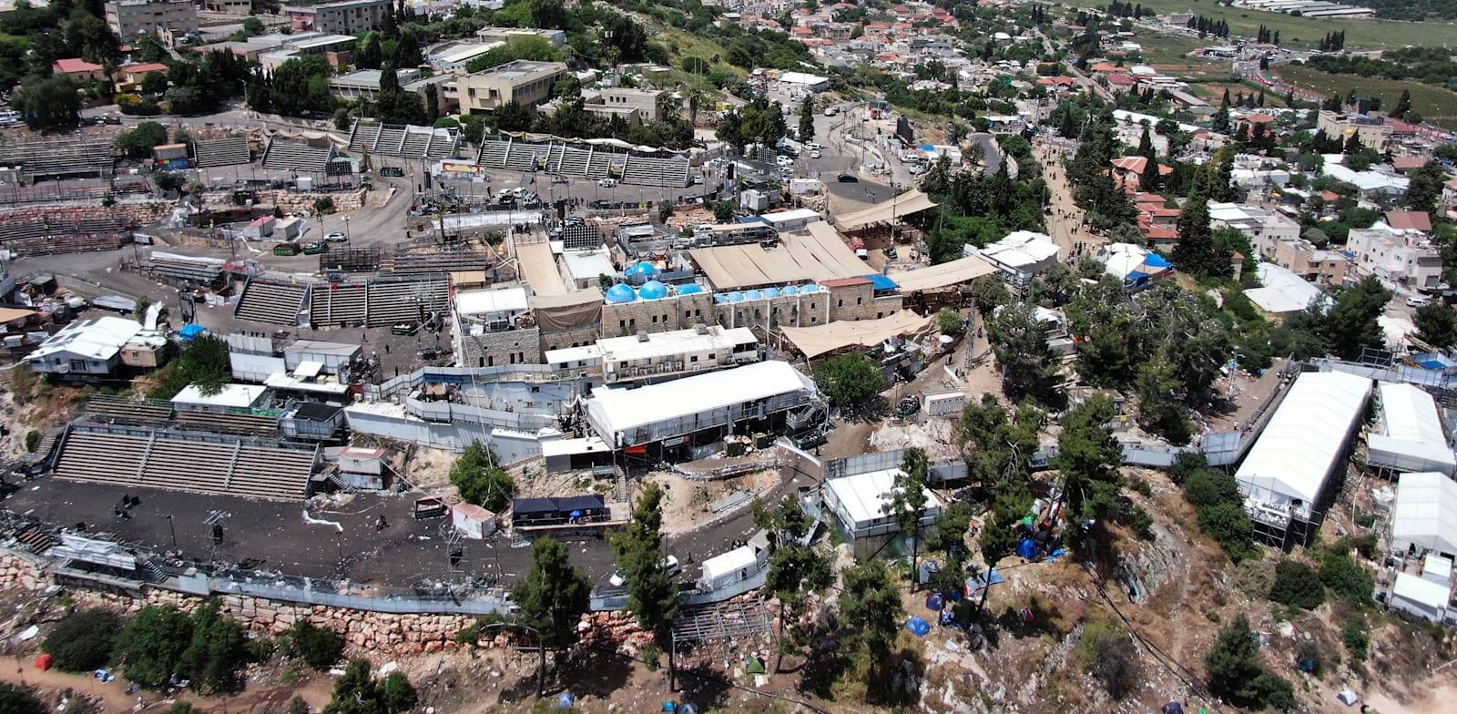 אזור האסון בהר מירון, מבט עילי