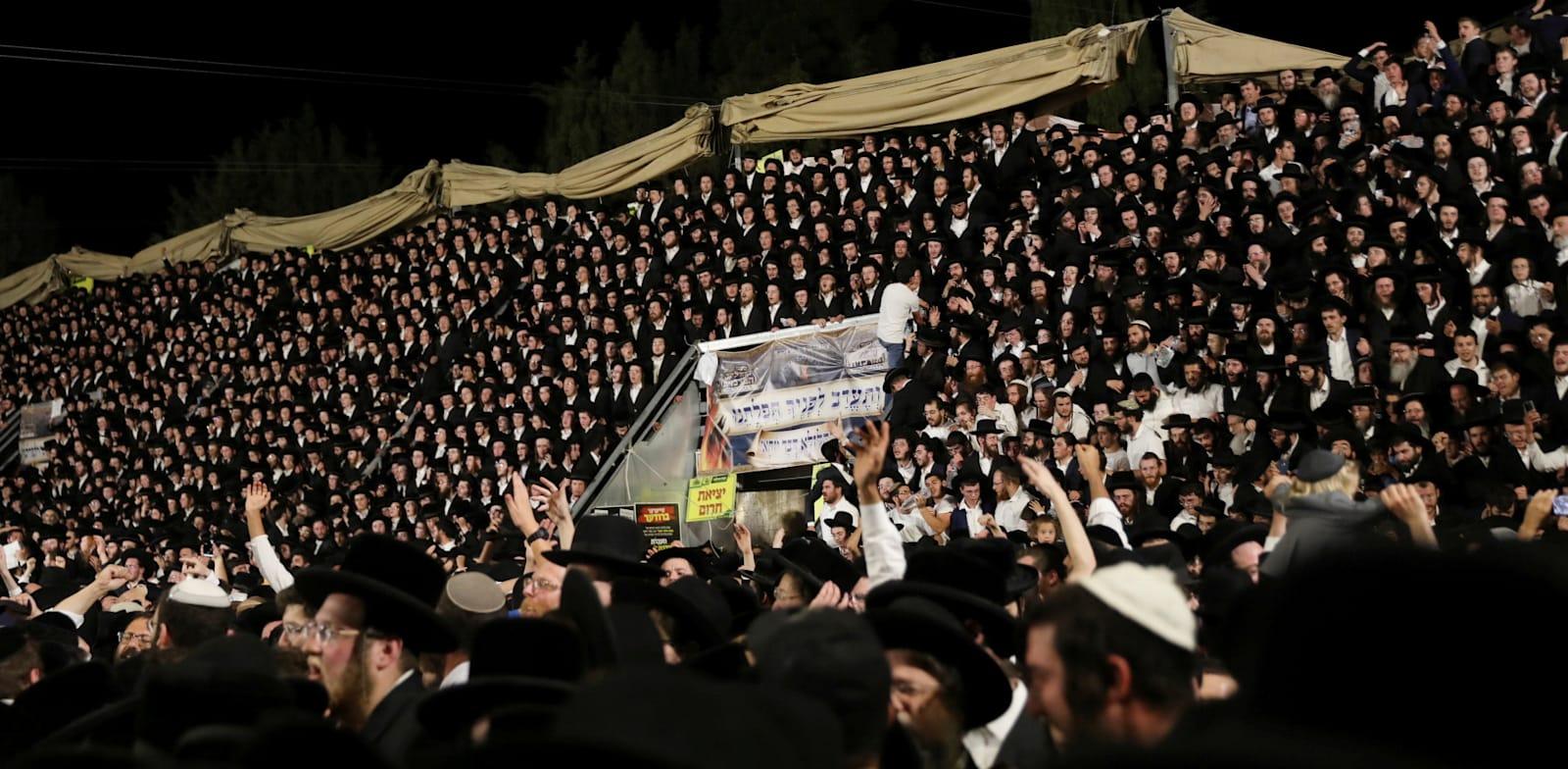 האירוע בהר מירון / צילום: Reuters