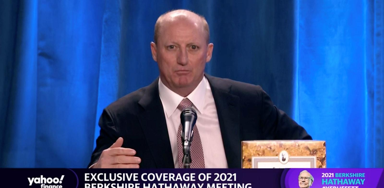 גרג אייבל / צילום: Reuters, מתוך השידור החי של הפגישה השנתית של ברקשייר הת'אוויי