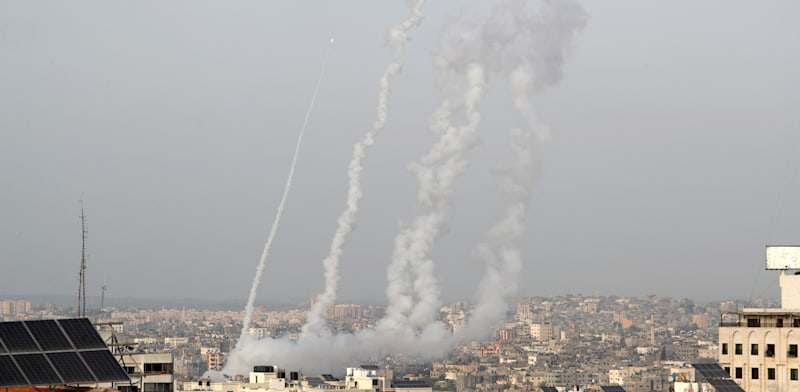 Rocket fire from Gaza Photo: Reuters