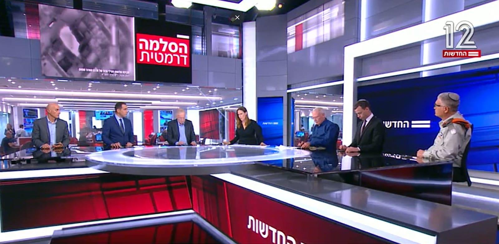 המהדורה המרכזית של חדשות 12 / צילום: חדשות 12