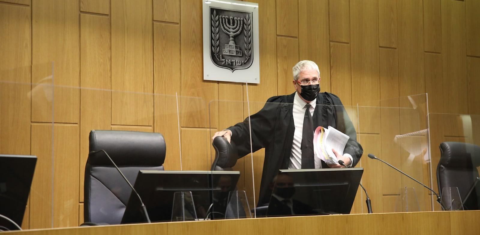 השופט חגי ברנר, מתוך הדיון בפרשת מיכאל (מייק) בן ארי / צילום: כדיה לוי