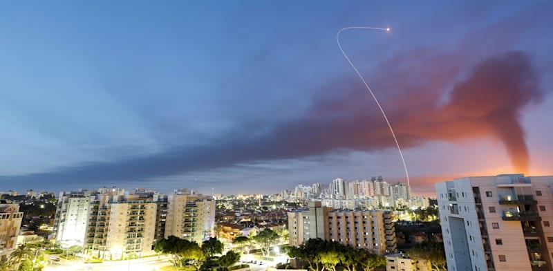 יירוט של כיפת ברזל באשקלון / צילום: Reuters, Amir Cohen