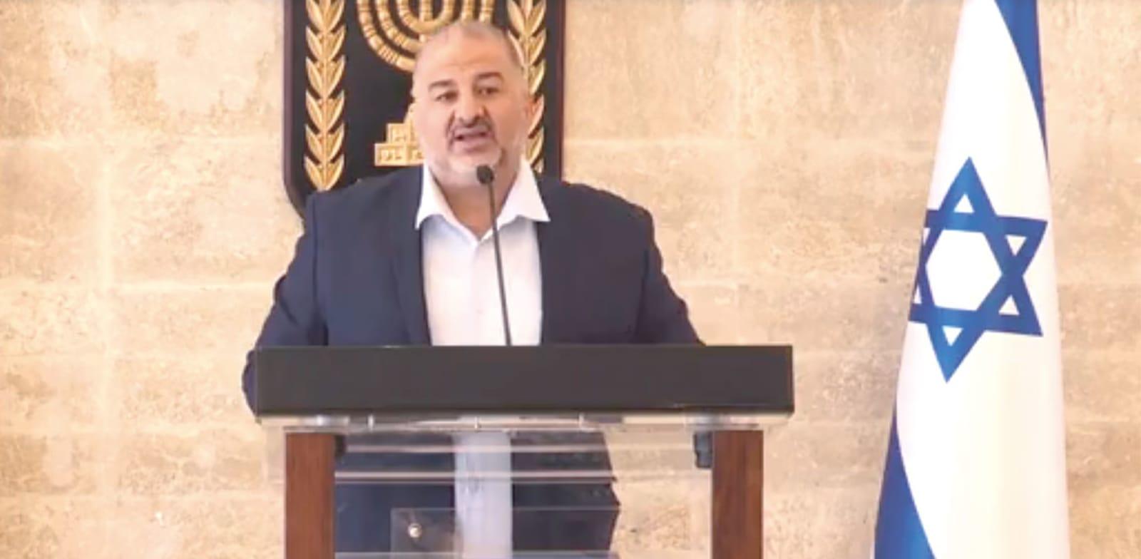 Mansour Abbas Photo: Knesset Channel