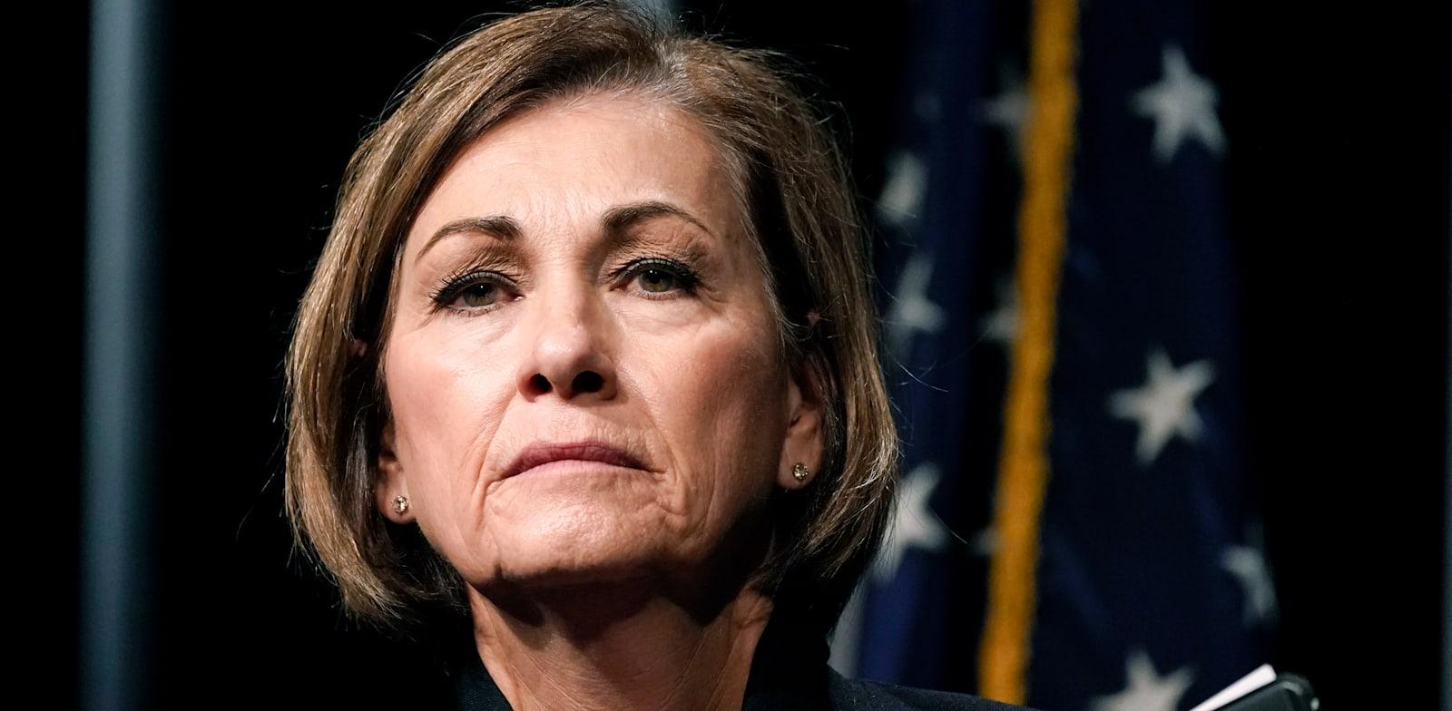 המושלת הרפובליקאית של אייווה, קים רינולדס / צילום: Associated Press, Charlie Neibergall