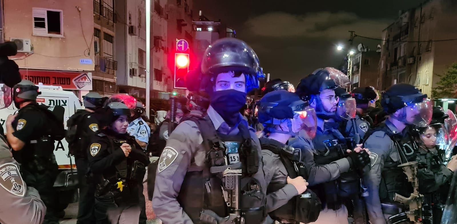 כוחות משטרה באזור בת ים אמש / צילום: דוברות משטרת ישראל