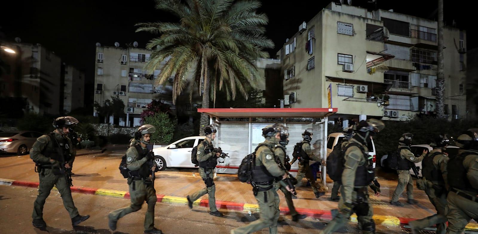 """כוחות מג""""ב בלוד / צילום: Reuters"""