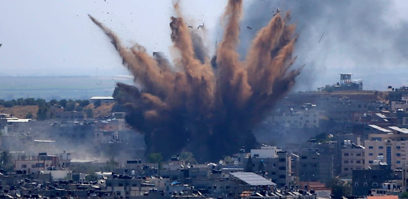 Israel Air Force attack in Gaza  credit:  Hatem Moussa