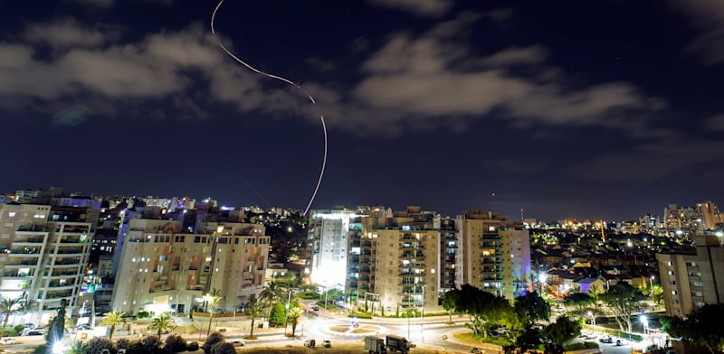 Israel's Iron Dome system intercepts a rocket fired from Gaza towards Ashkelon credit: Amir Cohen, Reuters