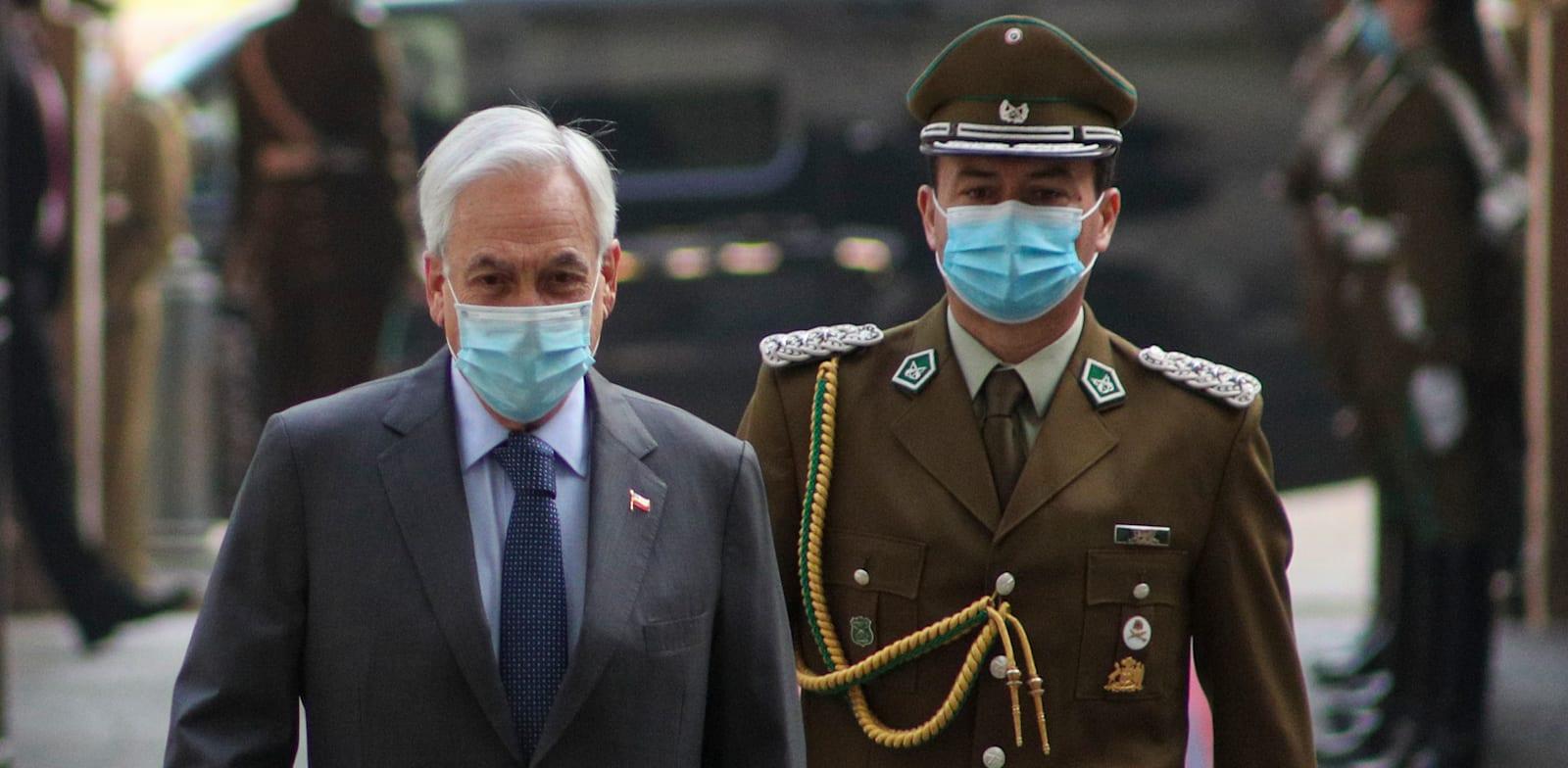 """""""אנחנו לא מספיק מכווננים לדרישות והרצונות של האזרחים"""", אמר נשיא צ'ילה, סבסטיאן פיניירה (משמאל) / צילום: Associated Press, Esteban Felix"""