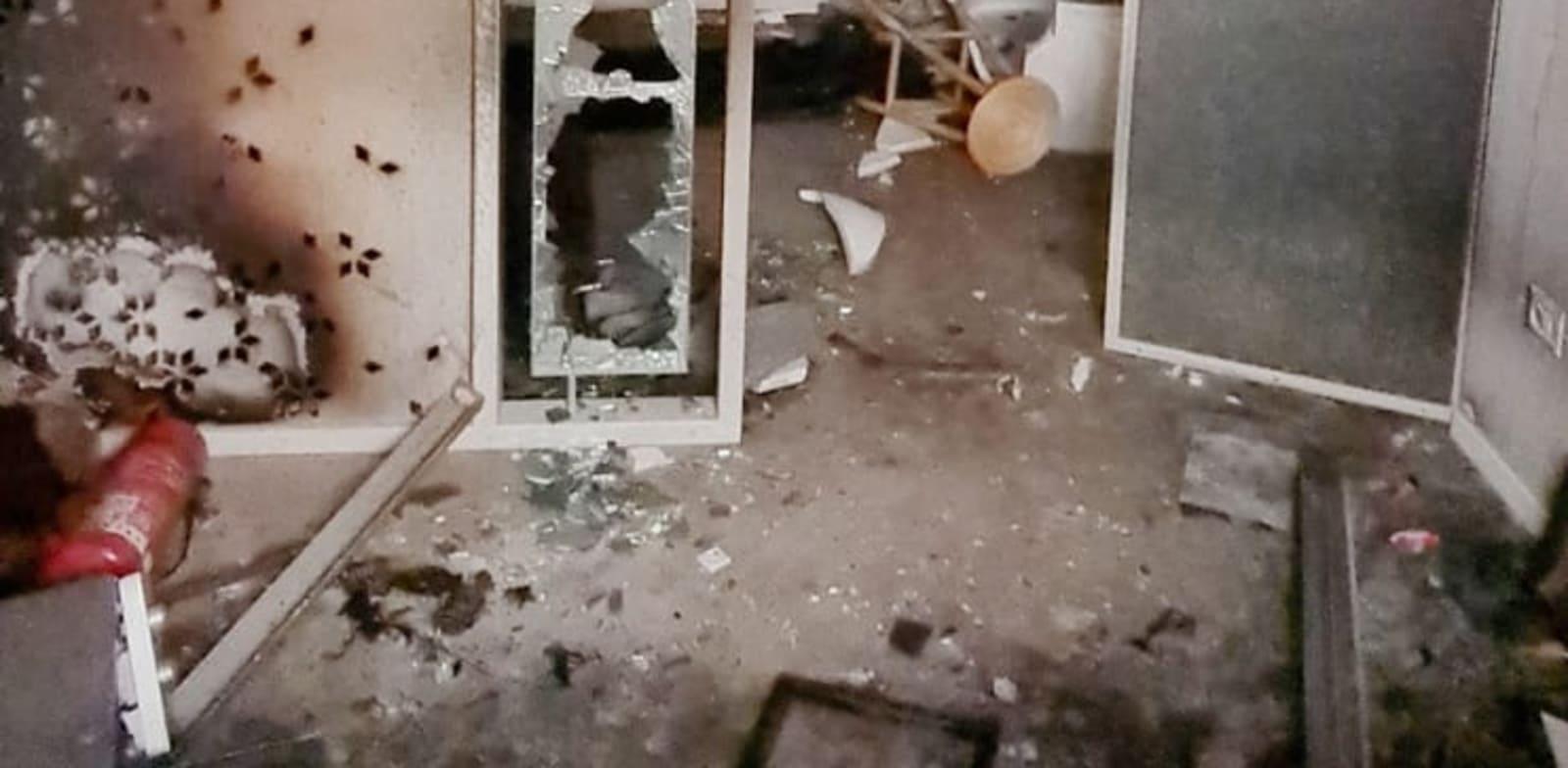 בית הארחה מליסנדה בעכו, שחדריו הוצתו בידי פורעים / צילום: מיכל מטלון