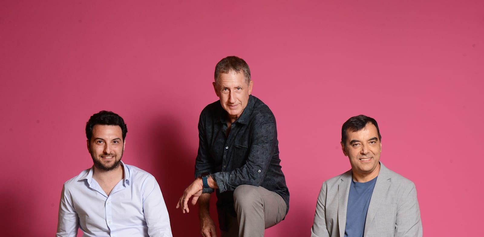 מימין: אמנון שעשוע, יואב שוהם, אורי גושן / צילום: איל יצהר