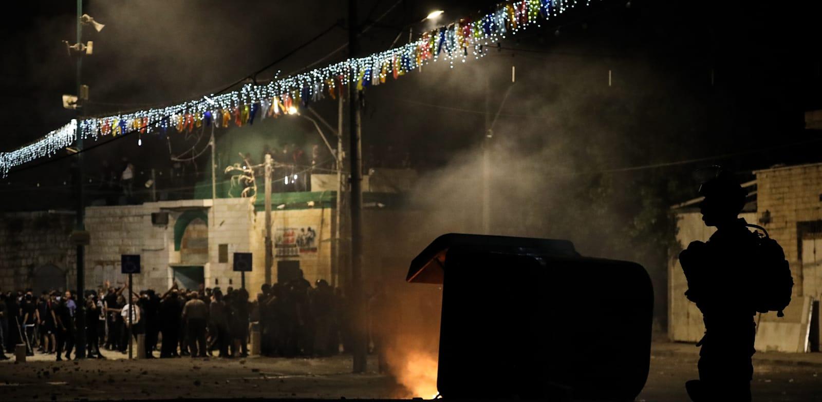 לוד בשבוע שעבר. השיח על הסימטריה נטול הקשר / צילום: Reuters, Oren Ziv