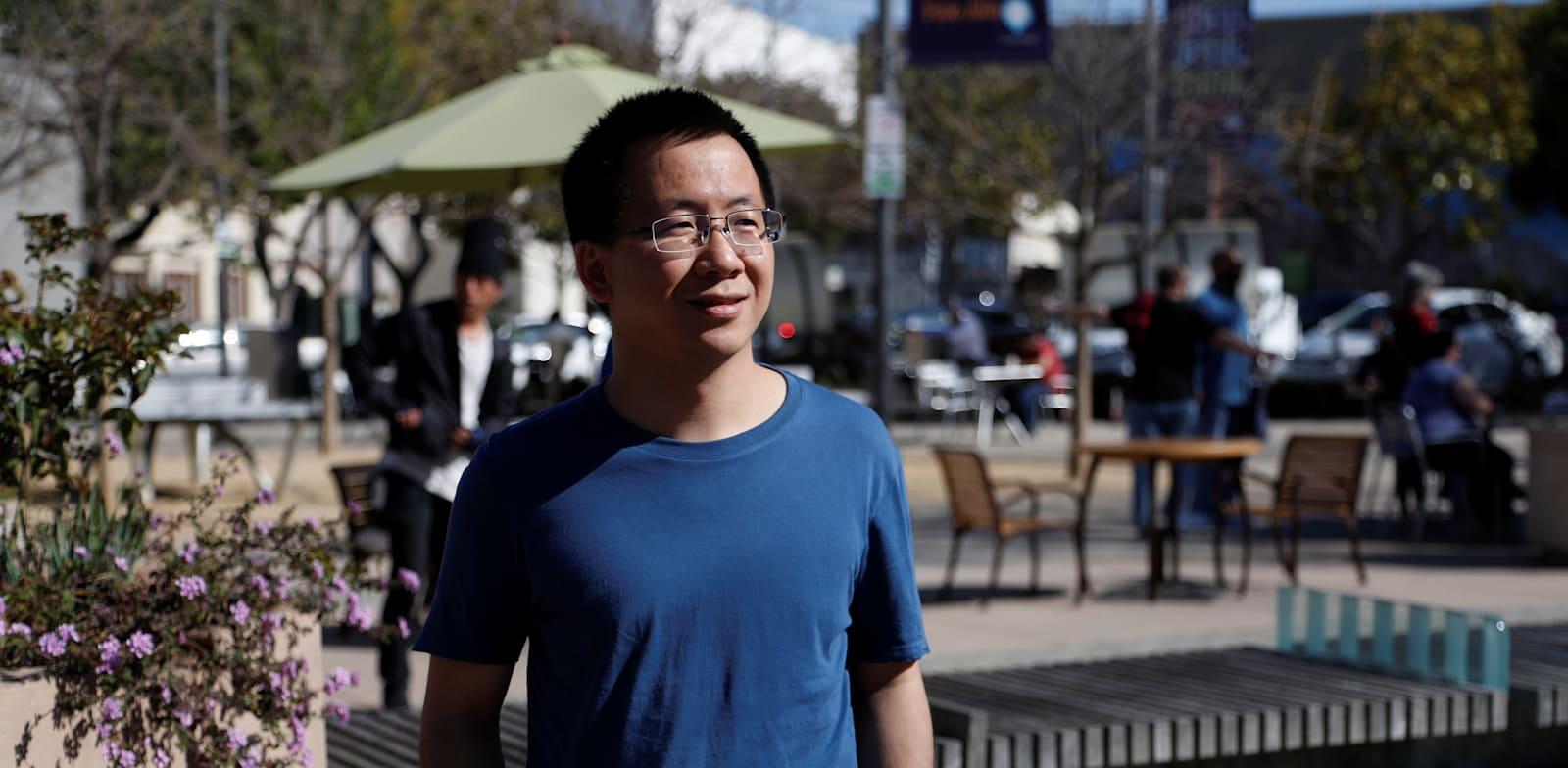 """ג'אנג יימינג מנכ""""ל בייטדאנס היוצא / צילום: Reuters, Shannon Stapleton"""