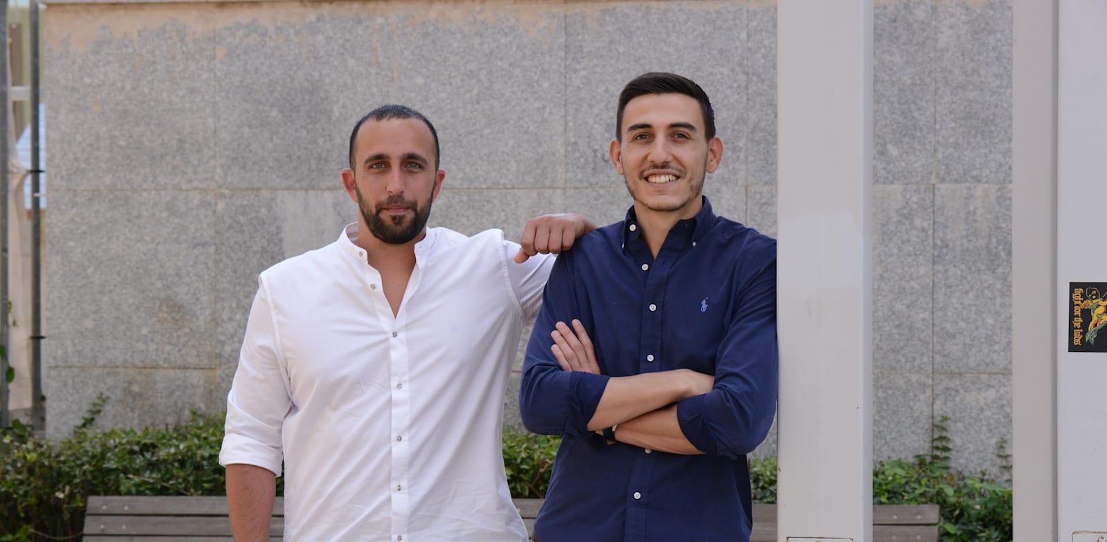 יובל עבדי ואושר אמסלם סטודנטים שהובילו מחאה של רואי שחשבון / צילום: איל יצהר