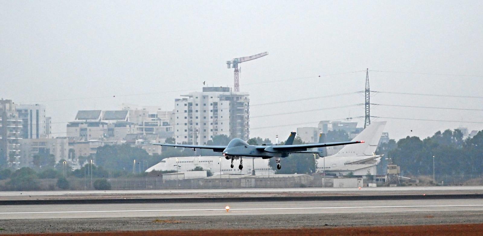 """מל""""ט מסוג הרון / צילום: דוברות התעשייה האווירית"""
