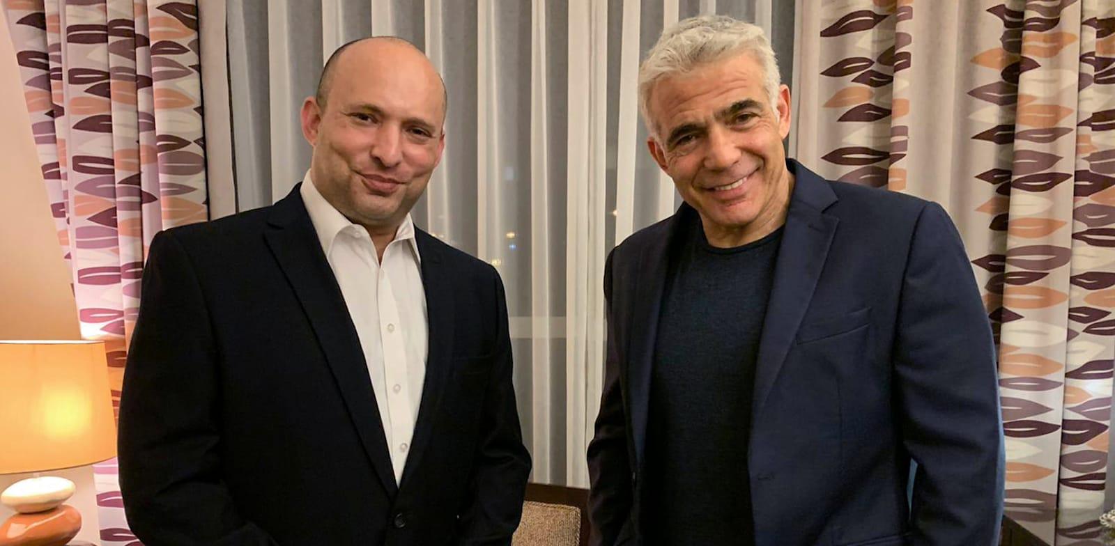 Naftali Bennett and Yair Lapid  credit: Reuters
