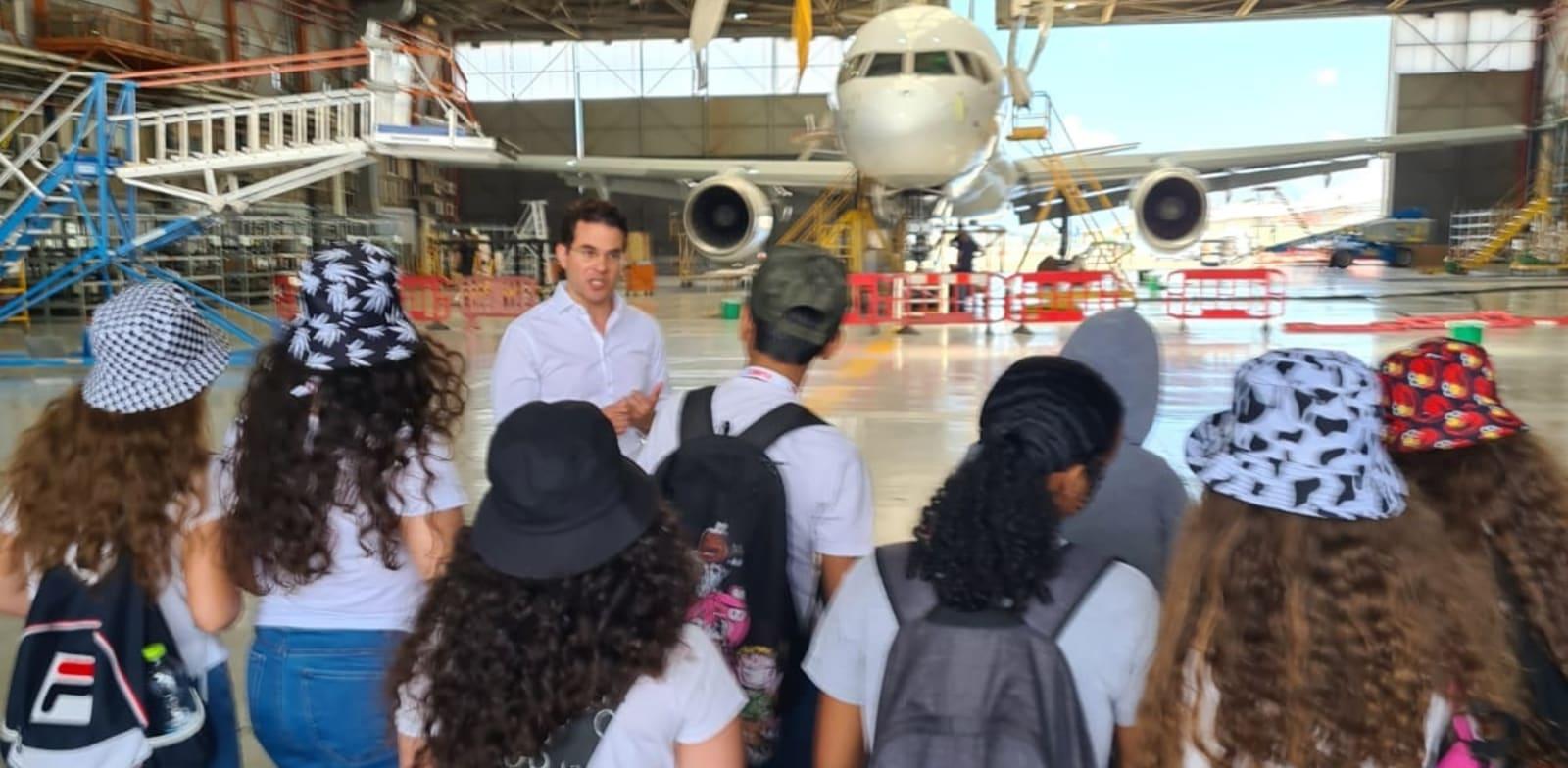 ביקור התלמידים בתעשייה האווירית / צילום: אלון רון, התעשייה האווירית