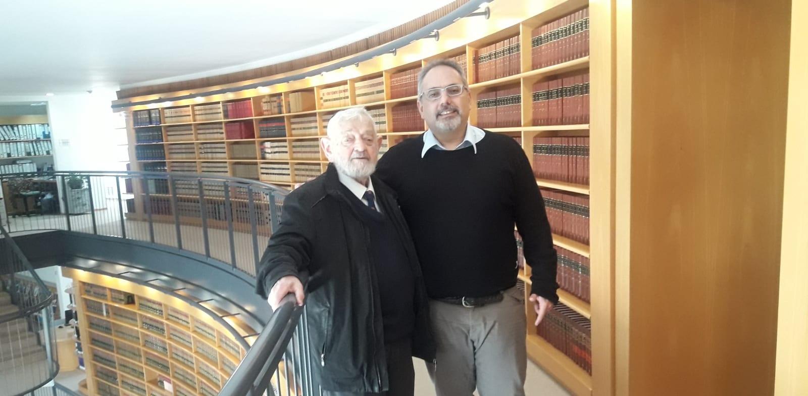 פרופ' יובל אלבשן ושופט העליון בדימוס צבי טל / צילום: תמונה פרטית
