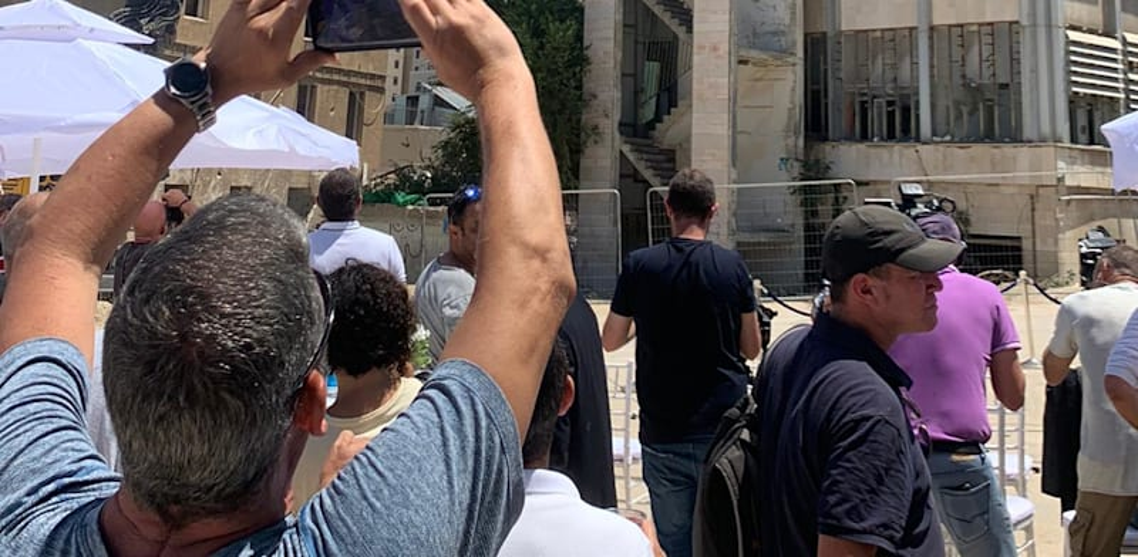 Jerusalem TV building being demolished Photo: Galit Saar Kamiel