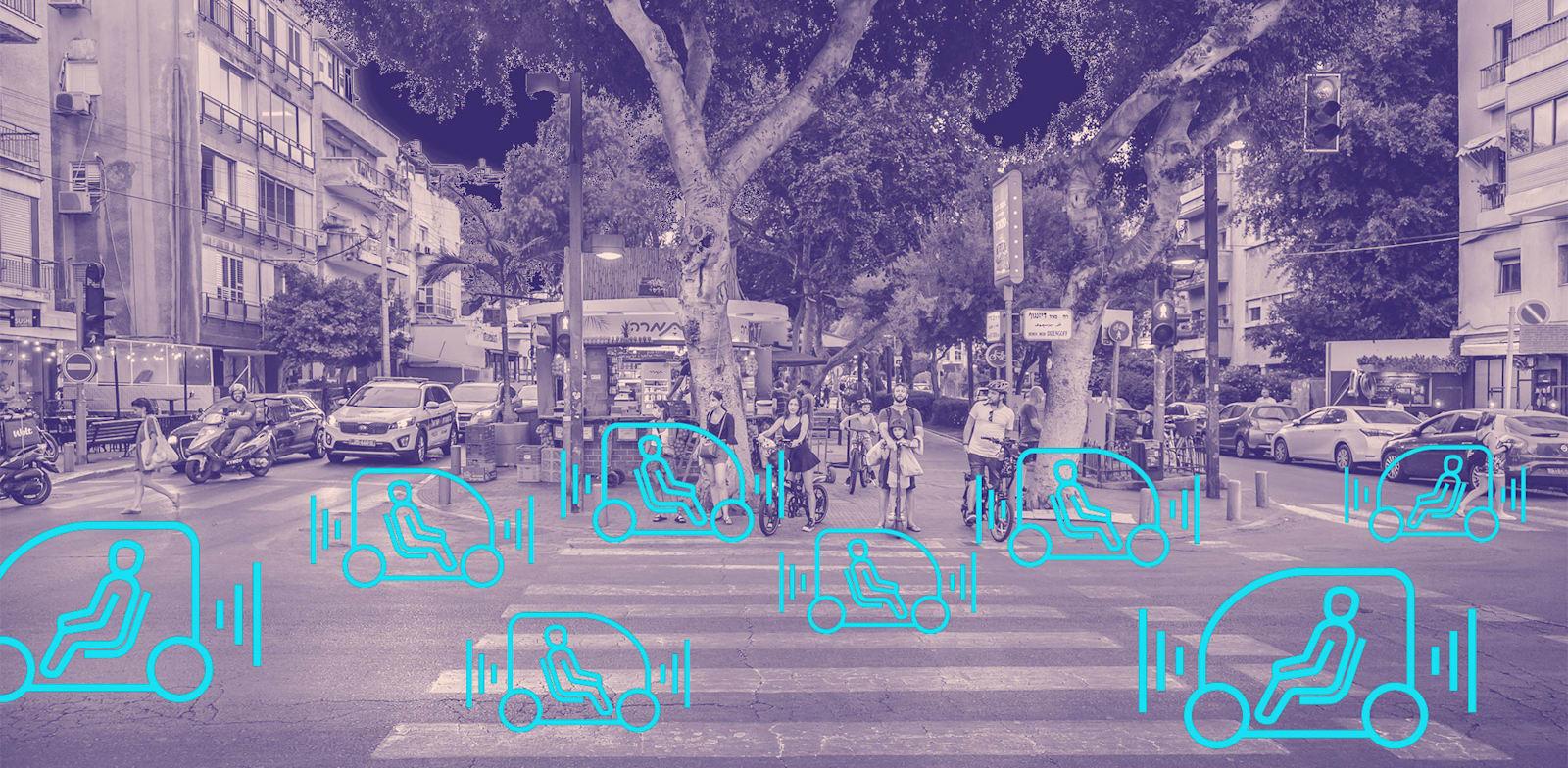 כלי הרכב יסיעו נוסעים ללא נהג ברחובות תל אביב החל מהשנה הבאה / צילום: Shutterstock