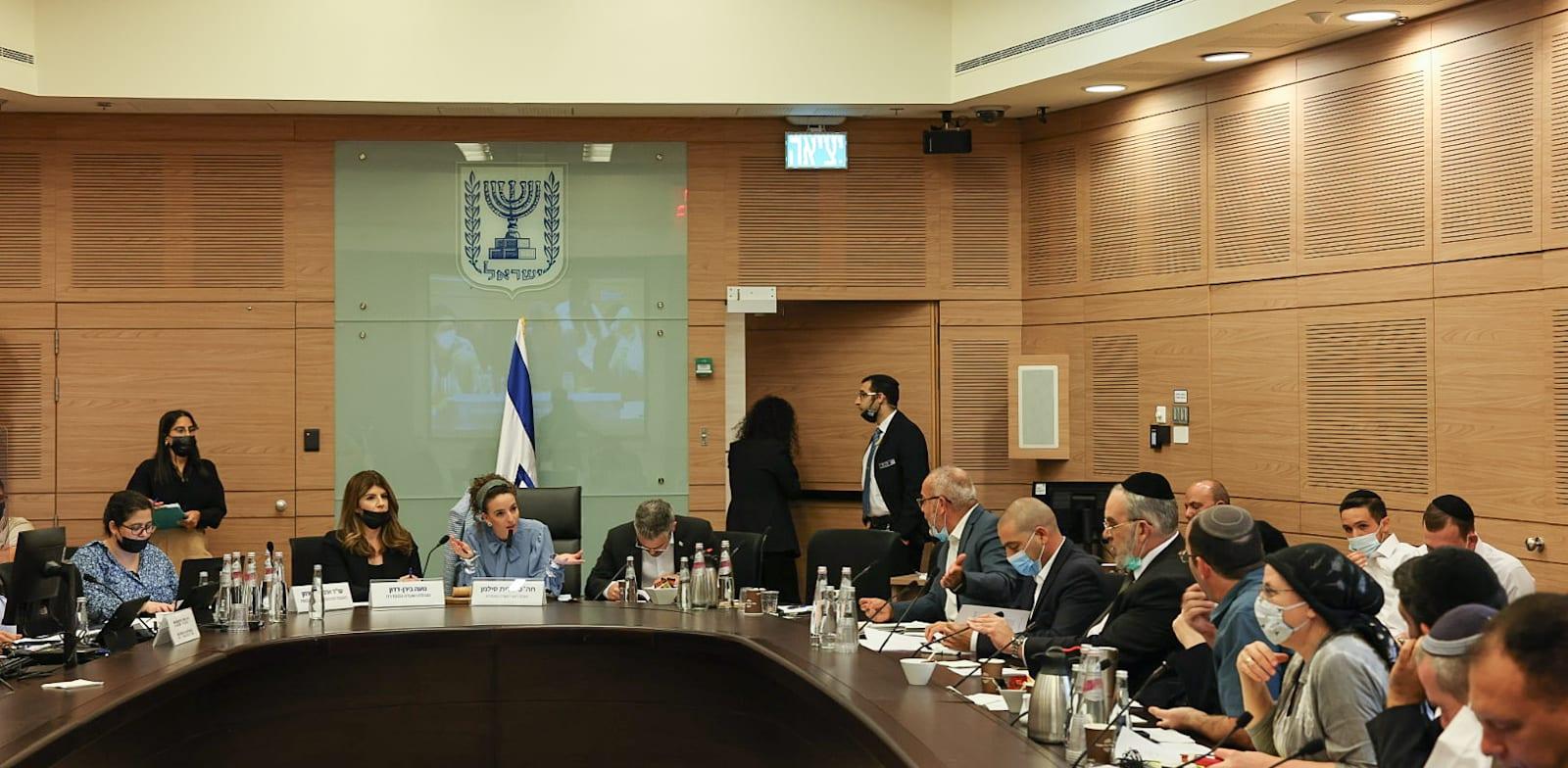 הדיון בוועדה המסדרת של הכנסת היום / צילום: דוברות הכנסת, נועם מושקוביץ