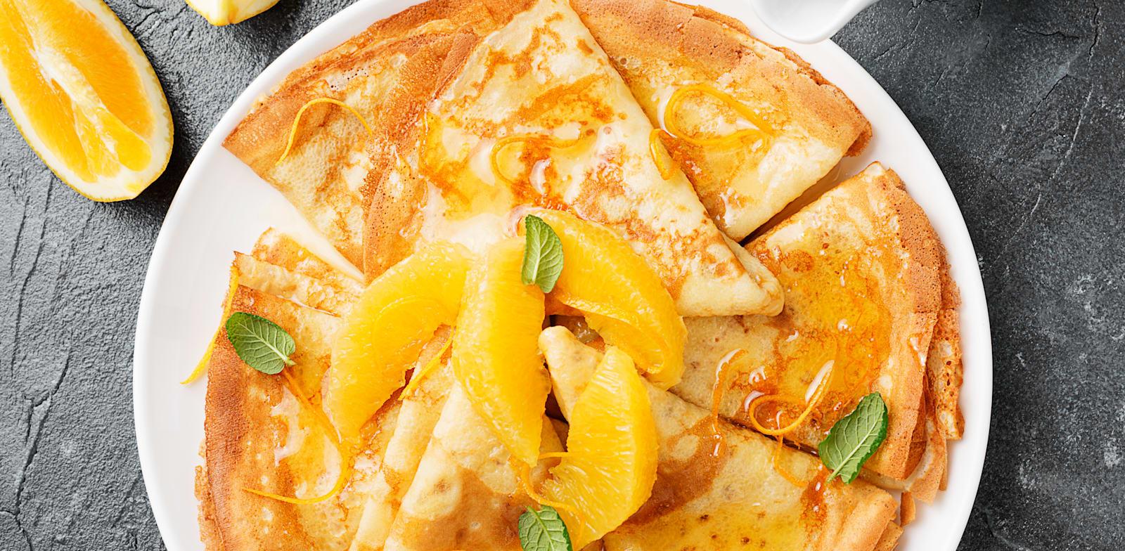 קרפ סוזט ברוטב תפוזים / צילום: Shutterstock