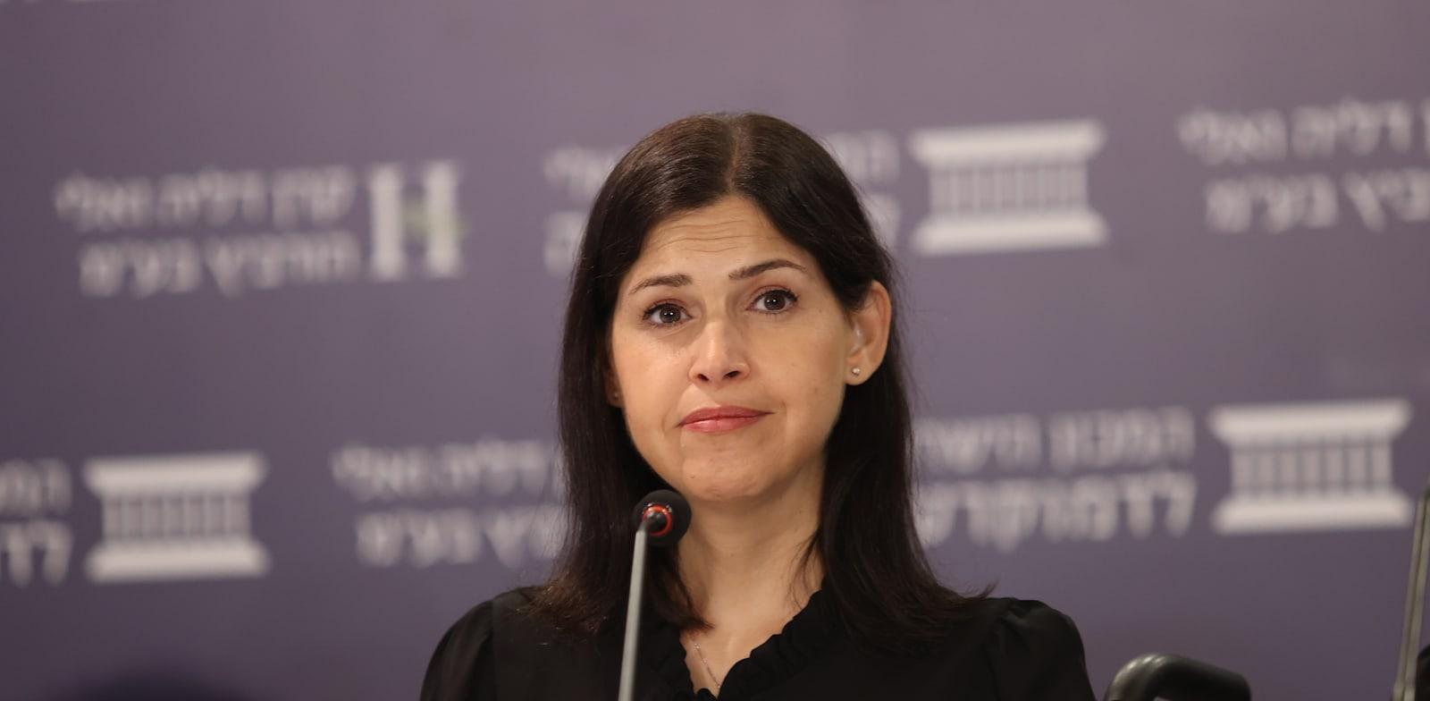 שרת האנרגיה קארין אלהרר / צילום: המכון הישראלי לדמוקרטיה