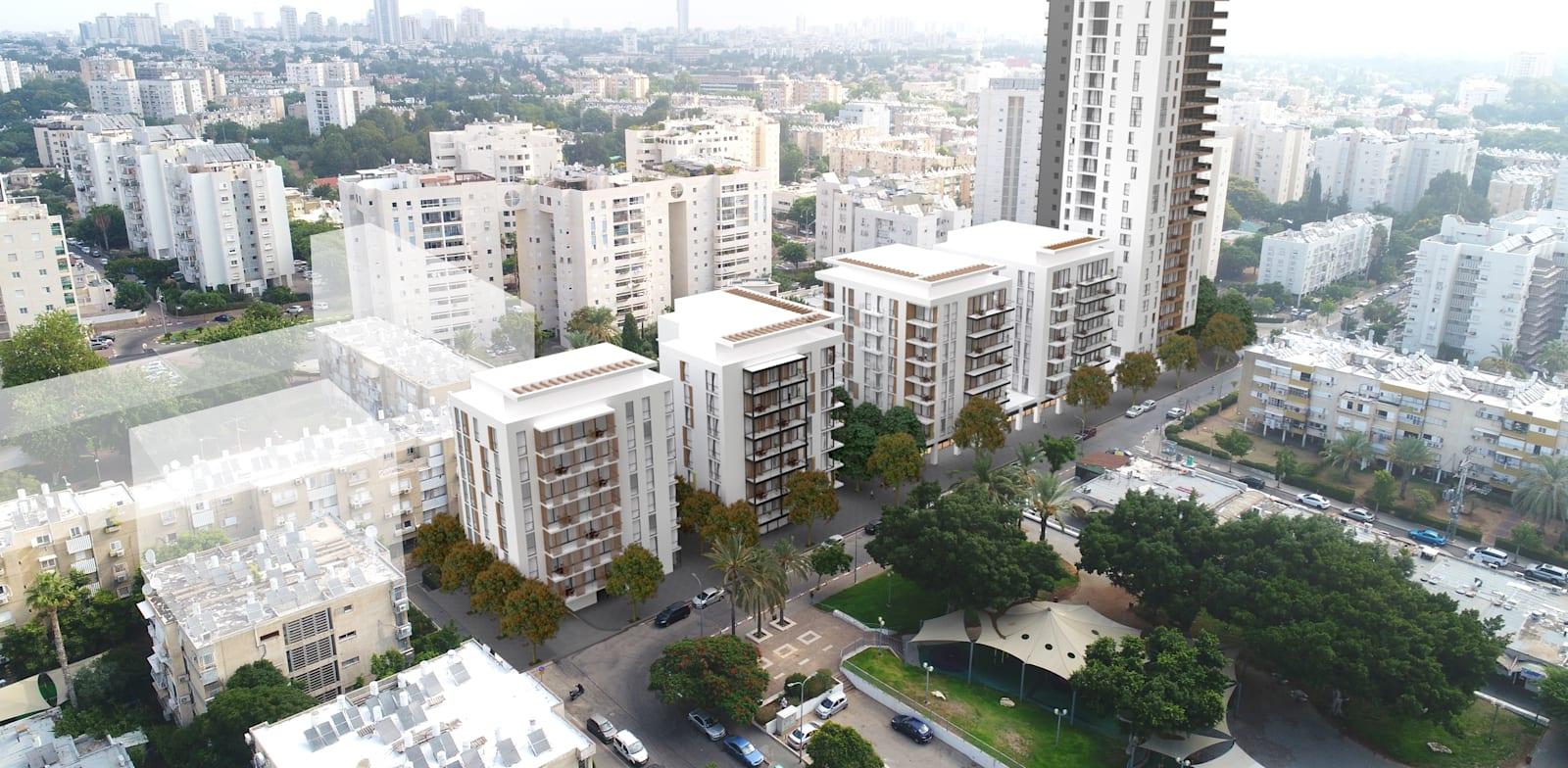 פרויקט פינוי-בינוי ברחוב תקוע 11-33 בשכונה נווה אליעזר בדרום-מזרח תל אביב / צילום: סטודיו מיא אדריכלים