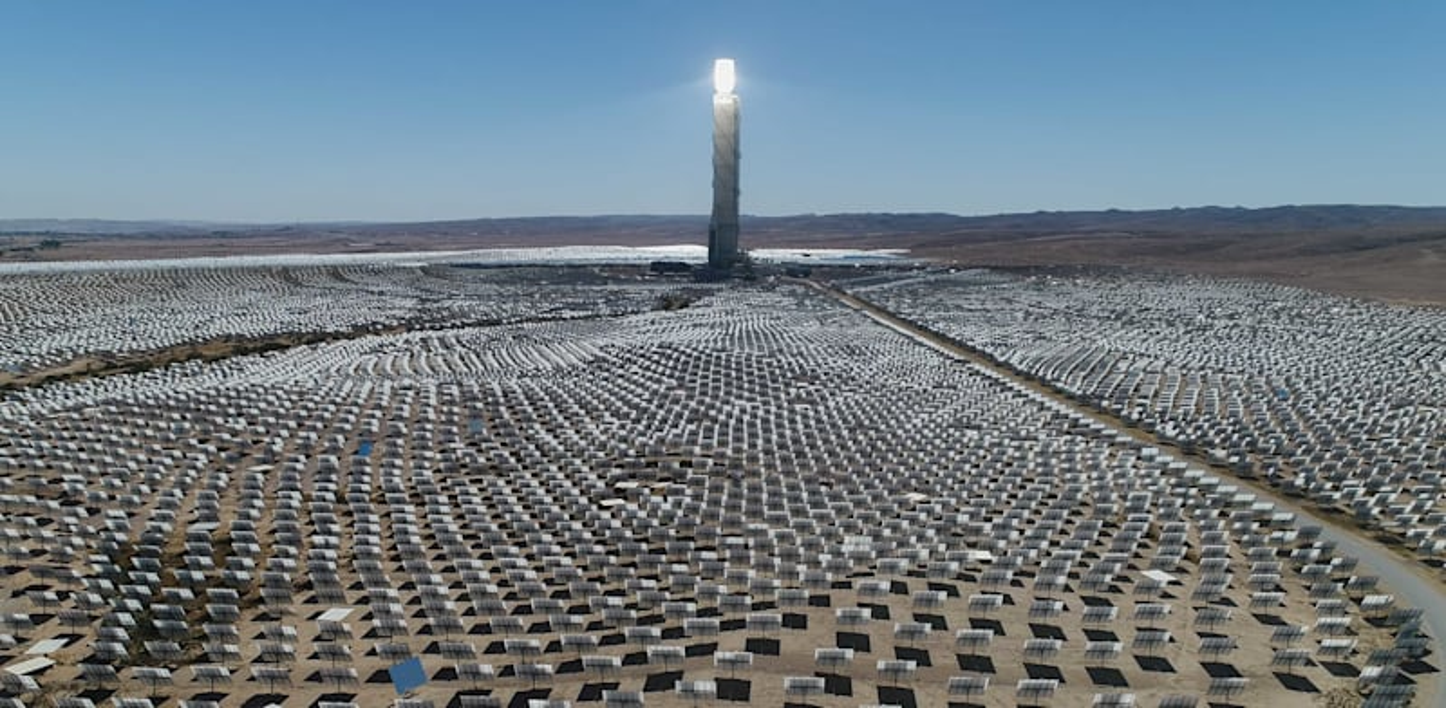 """תחנת הכוח הסולארית """"מגלים"""" / צילום: אלבטרוס"""
