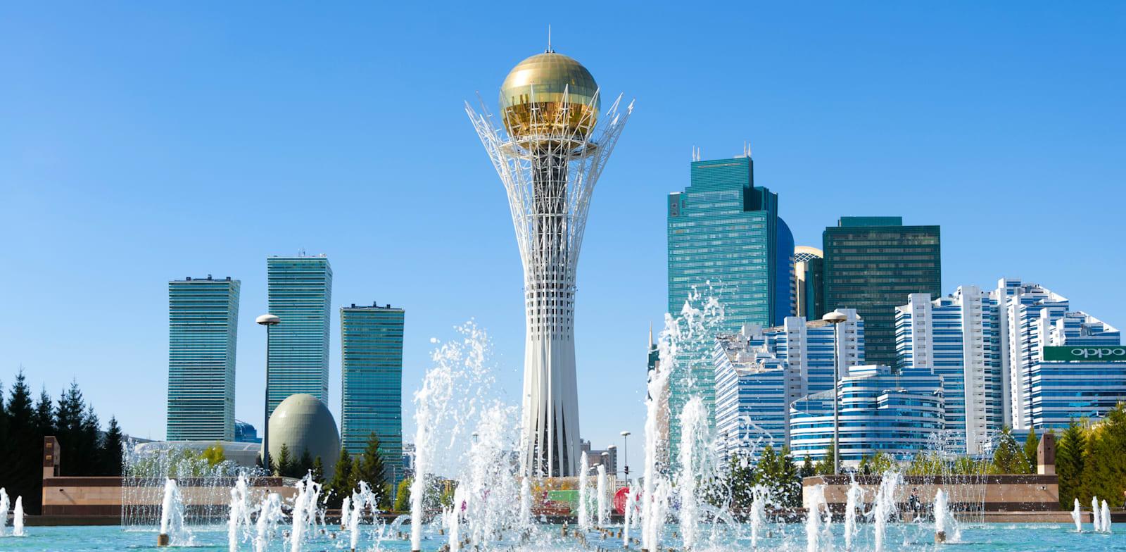 אסטנה, בירת קזחסטן. ארנה (אז מנופים) רכשה קרקע בעיר בשנת 2007 / צילום: Shutterstock