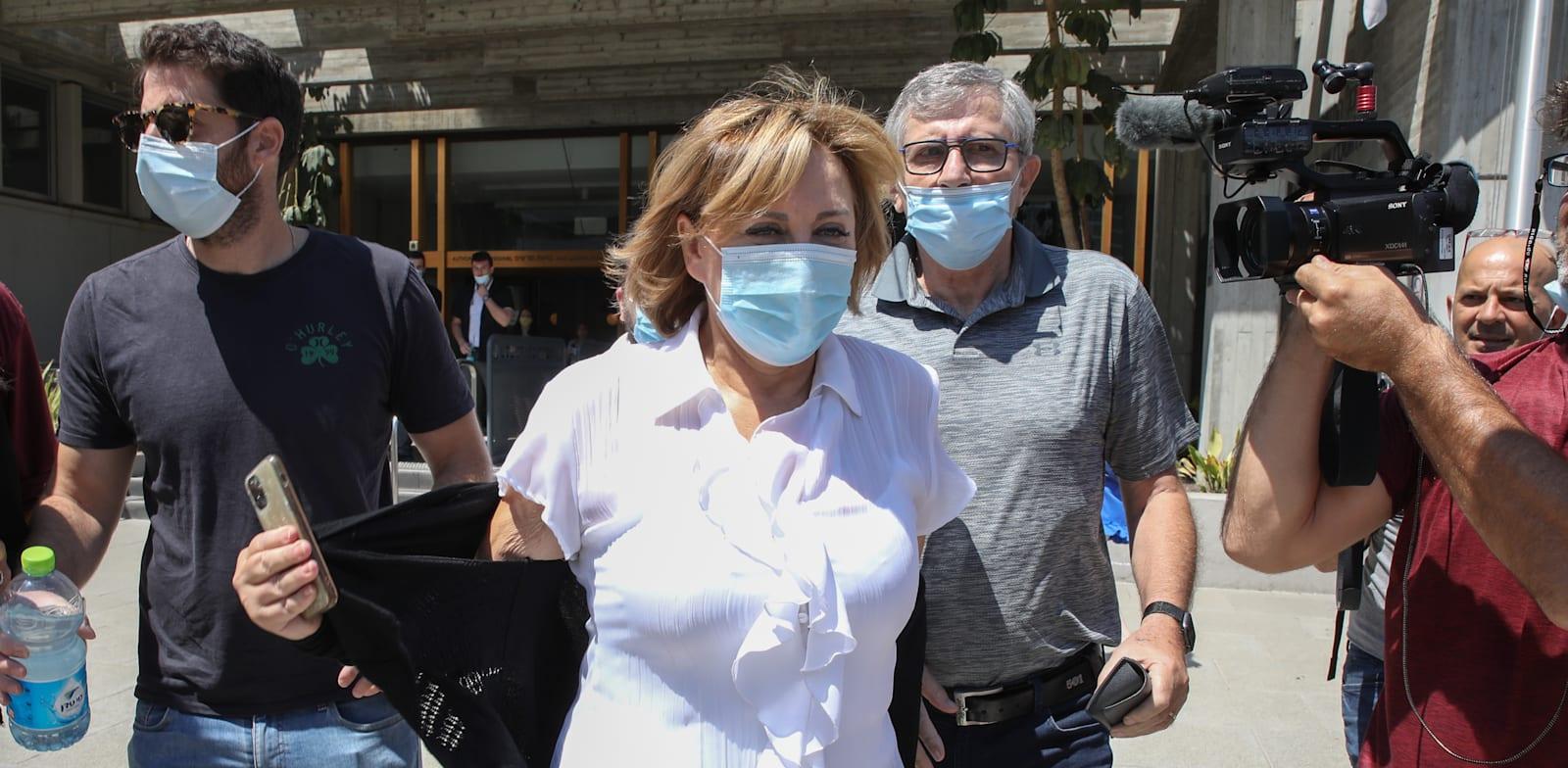 Faina Kirschenbaum being brought to court  credit: Kadia Levy