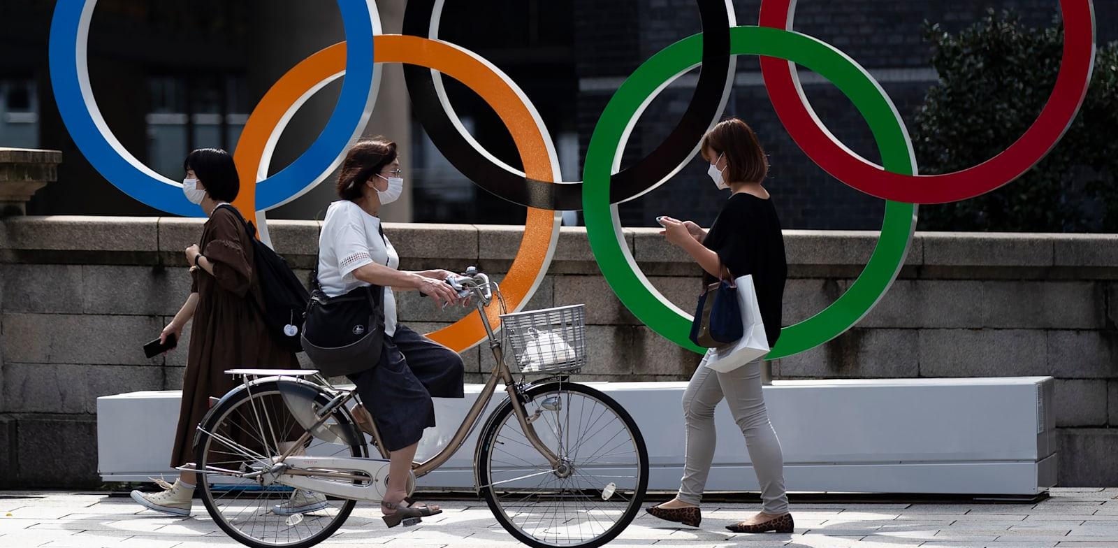 סמל האולימפיאדה בטוקיו / צילום: Associated Press, Hiro Komae