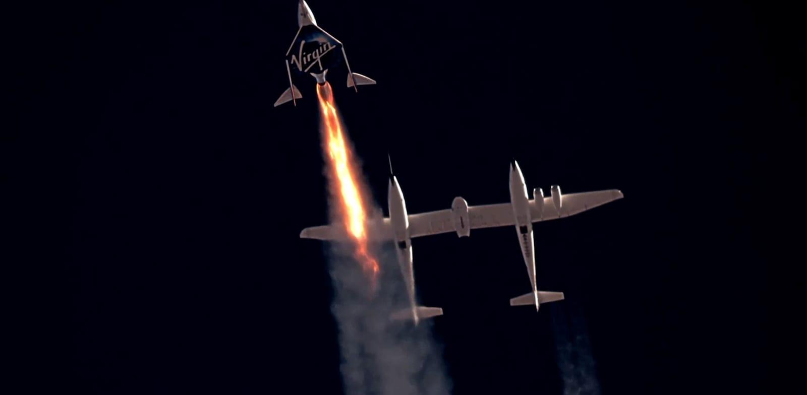 טיסת  Virgin Galactic  לחלל / צילום: Reuters