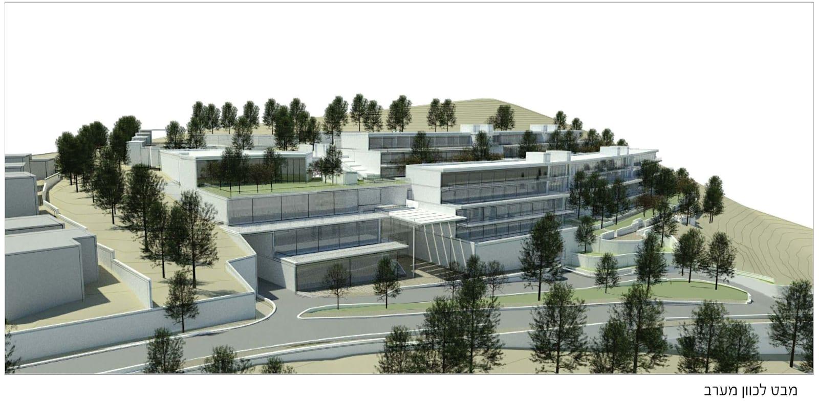 הדמיה של המתחם שייבנה בצפון מערב חצור הגלילית / הדמיה: גרואג-הראל אדריכלים