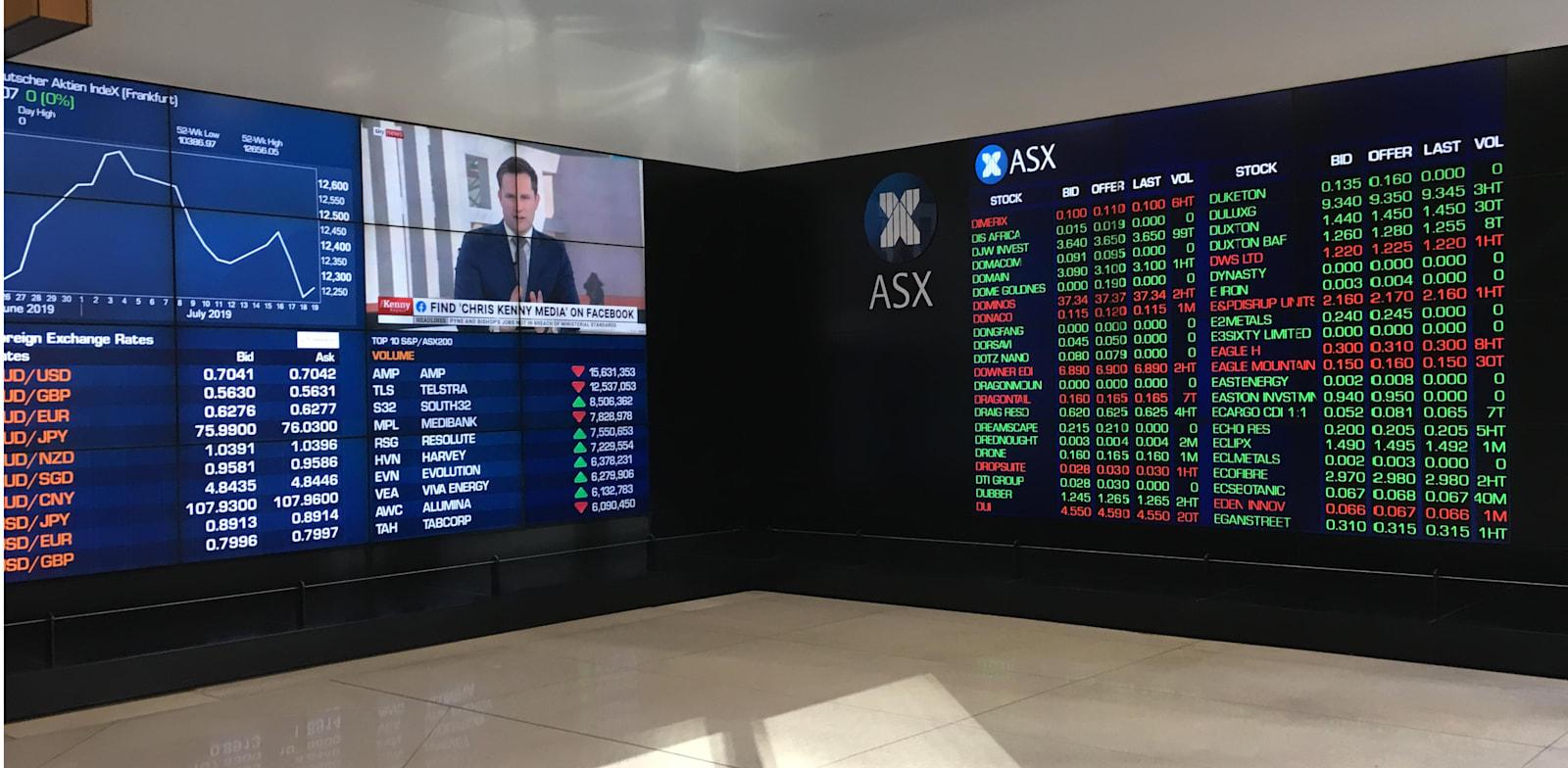 Australian Securities Exchange ASX  credit: Shutterstock